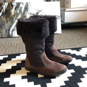 Coach Shoes - Coach Suede Boots with Fur Lining